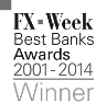 Tullett Prebon FX Week Best Banks Awards Winner 2013 logo