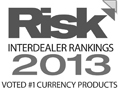 Tullett Prebon Risk 2013 #1 in Currency Products winner logo